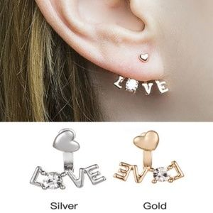 Jewelry - NEW LOVE ear jackets